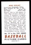 1951 Bowman Reprints #77  Mike Goliat  Back Thumbnail