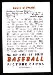 1951 Bowman Reprints #159  Ed Stewart  Back Thumbnail