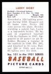 1951 Bowman Reprints #151  Larry Doby  Back Thumbnail