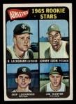 1965 Topps #526   -  Catfish Hunter / Johnny Odom / Skip Lockwood / Rene Lachemann Athletics Rookies Front Thumbnail