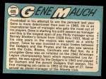 1965 Topps #489  Gene Mauch  Back Thumbnail