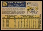 1970 O-Pee-Chee #335  Bill Freehan  Back Thumbnail