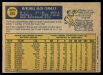 1970 O-Pee-Chee #383  Mickey Stanley  Back Thumbnail