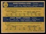 1970 O-Pee-Chee #429   -  Randy Bobb / Jim Cosman Cubs Rookies Back Thumbnail