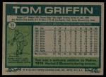 1977 Topps #39  Tom Griffin  Back Thumbnail