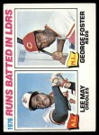 1977 Topps #3   -  Lee May / George Foster RBI Leaders Front Thumbnail