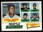 1977 Topps #597   -  Darrell Johnson / Don Bryant / Vada Pinson / Jim Busby / Wes Stock Mariners Leaders Front Thumbnail