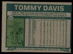 1977 #362  Tommy Davis  Back Thumbnail