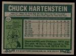 1977 Topps #416  Chuck Hartenstein  Back Thumbnail