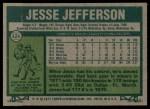 1977 Topps #326  Jesse Jefferson  Back Thumbnail