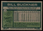 1977 Topps #27  Bill Buckner  Back Thumbnail
