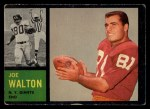 1962 Topps #103   Joe Walton Front Thumbnail
