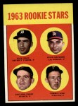 1963 Topps #169   Rookie Stars  -  Gaylord Perry / Tommie Sisk / Dick Egan / Julio Navarro Front Thumbnail