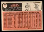 1966 Topps #502  Lenny Green  Back Thumbnail