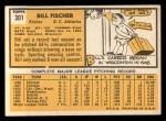 1963 Topps #301  Bill Fischer  Back Thumbnail