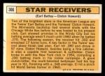 1963 Topps #306   -  Earl Battey / Elston Howard Star Receivers   Back Thumbnail