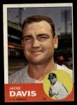 1963 Topps #117 ^COR^ Jacke Davis  Front Thumbnail