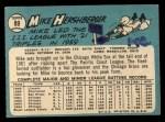 1965 Topps #89  Mike Hershberger  Back Thumbnail