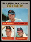 1970 O-Pee-Chee #68   -  Dick Bosman / Mike Cuellar / Jim Palmer AL ERA Leaders Front Thumbnail