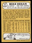 1968 #402  Mike Hegan  Back Thumbnail