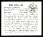 1950 Bowman Reprints #115  Roy Smalley  Back Thumbnail