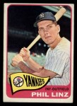 1965 Topps #369  Phil Linz  Front Thumbnail