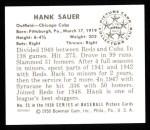 1950 Bowman Reprints #25  Hank Sauer  Back Thumbnail