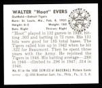 1950 Bowman Reprints #41  Hoot Evers  Back Thumbnail