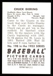 1952 Bowman Reprints #198  Chuck Diering  Back Thumbnail