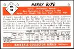 1953 Bowman Reprints #38  Harry Byrd  Back Thumbnail