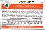 1953 Bowman Reprints #105  Eddie Joost  Back Thumbnail