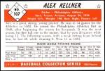 1953 Bowman Reprints #107  Alex Kellner  Back Thumbnail