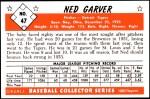 1953 Bowman Reprints #47  Ned Garver  Back Thumbnail