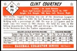 1953 Bowman Reprints #70  Clint Courtney  Back Thumbnail
