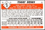 1953 Bowman Reprints #42  Tom Brown  Back Thumbnail