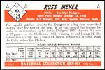 1953 Bowman Reprints #129  Russ Meyer  Back Thumbnail