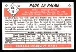 1953 Bowman Black and White Reprints #19  Paul LaPalme  Back Thumbnail