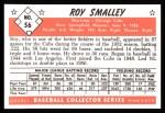 1953 Bowman Black and White Reprints #56  Roy Smalley  Back Thumbnail