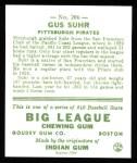 1933 Goudey Reprints #206  Gus Suhr  Back Thumbnail