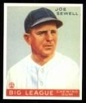1933 Goudey Reprints #165  Joe Sewell  Front Thumbnail