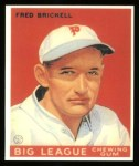 1933 Goudey Reprints #38  Fred Brickell  Front Thumbnail