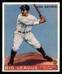 1933 Goudey Reprints #92  Lou Gehrig  Front Thumbnail
