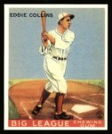 1933 Goudey Reprints #42  Eddie Collins  Front Thumbnail