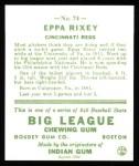 1933 Goudey Reprints #74  Eppa Rixey  Back Thumbnail