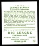 1933 Goudey Reprints #159  Ossie Bluege  Back Thumbnail