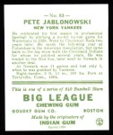 1933 Goudey Reprints #83  Pete Jablonowski  Back Thumbnail