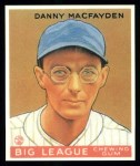 1933 Goudey Reprints #156  Danny MacFayden  Front Thumbnail