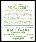 1933 Goudey Reprints #119  Rogers Hornsby  Back Thumbnail