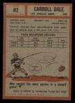 1962 Topps #82   Carroll Dale Back Thumbnail