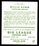 1933 Goudey Reprints #75  Willie Kamm  Back Thumbnail